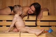 баня с малышами