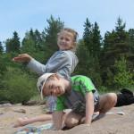 Настя (6 лет) и Лёша (5 лет)