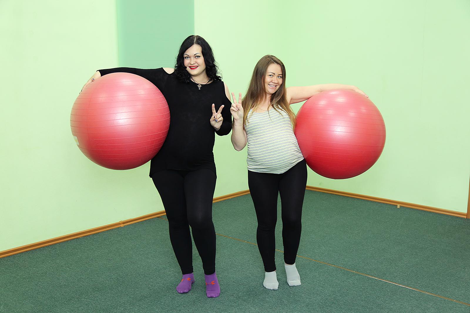 4 сентября. Вечерняя группа гимнастики для беременных.